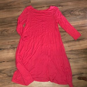 Bright Pink Honey and Lace Dress with Pockets